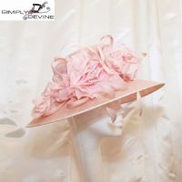 Pretty baby pink mother of the bride hat 13201